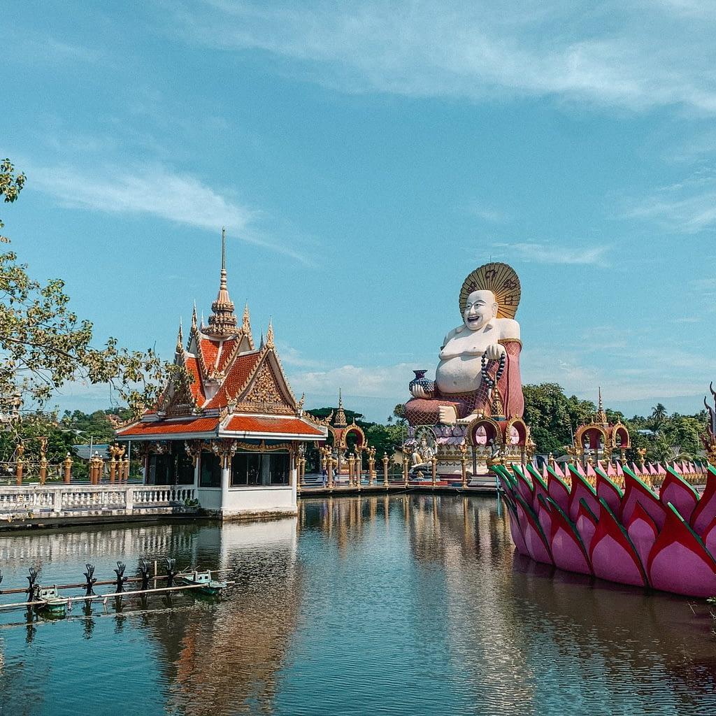 Buddha statue against blue sky